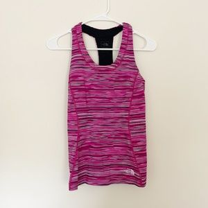The North Face Tops - The North Face Pink Striped Racerback Workout Tank